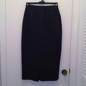 Wool skirt Harve Benard dark gray below knees